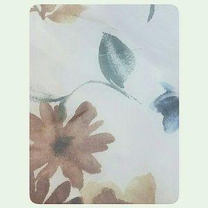 Skirts - Junior's Floral Pastel Mini-Skirt Cream Size Med